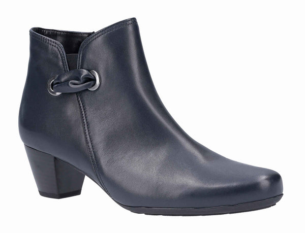 Gabor Keegan Womens Wide Fit Leather Ankle Boot 52.827