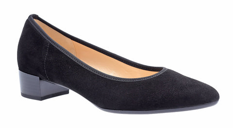 Gabor Kenmore Womens Block Heeled Suede Court Shoe 31.430
