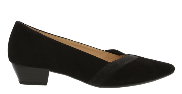 Gabor Opera Womens Suede Leather Slip On Dress Court Shoe 95.135