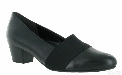 Gabor Sovereign Womens Wide Fit Leather Dress Court Shoe 62.052 57 Black L