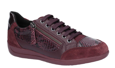Geox D Myria A Womens Lace Up Casual Trainer D64648A