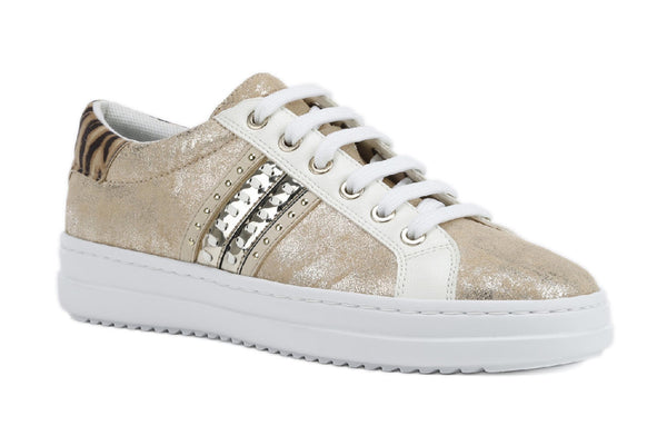 Geox D Pontoise D Womens Leather Lace up Trainer