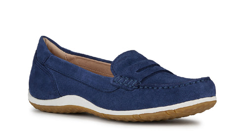Geox D Vega Moc A Slip On Shoe Blue