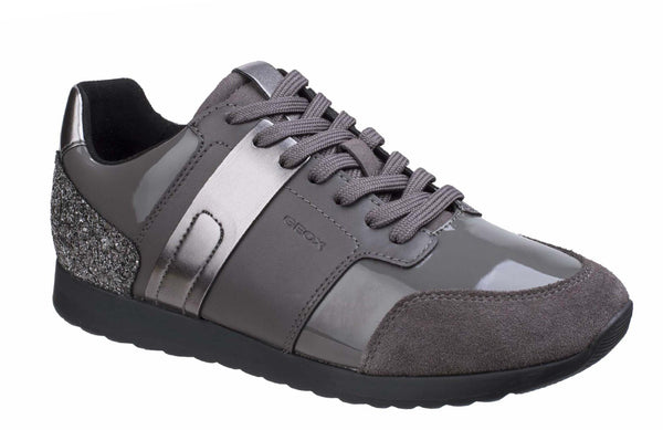 Geox D Deynna D Womens Lace Up Casual Trainer Grey C9002