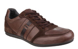 Geox Houston Mens Lace Up Casual Shoe Dk Brown L C60006