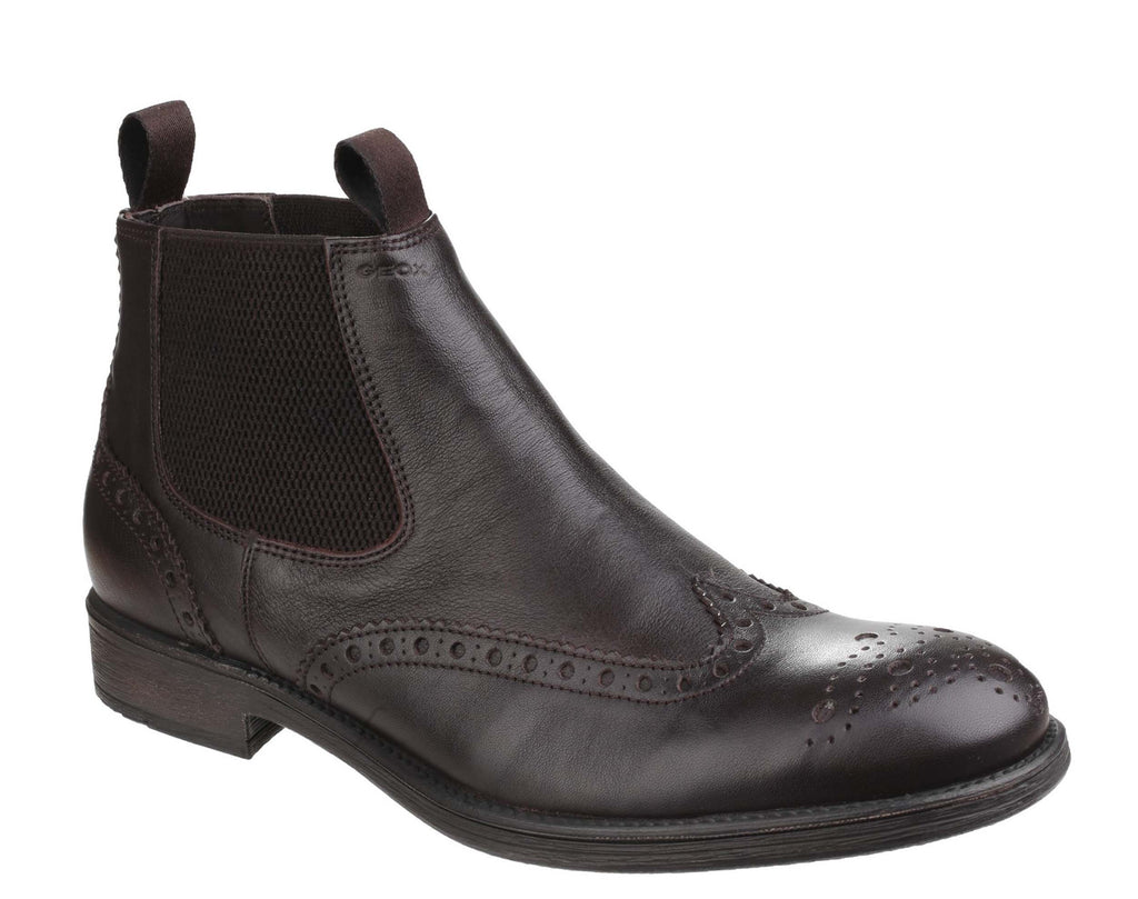 stylish design hot-selling newest get online Geox Jaylon Mens Brogue Detail Leather Chelsea Boot