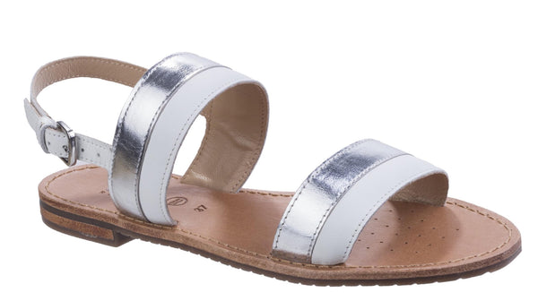 Geox D Sozy F Womens Leather Summer Sandal Wht/Si C0007