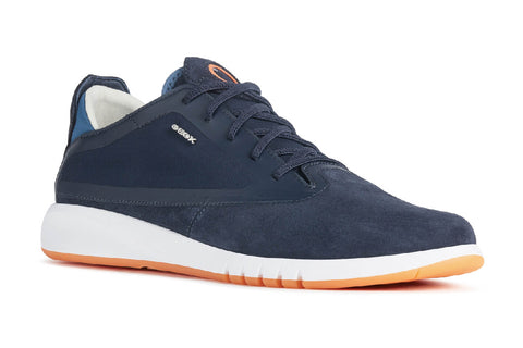 Geox U Aerantis A Elasticated Trainer Navy