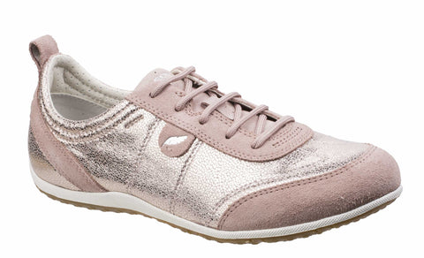 Geox Vega A Ladies Lace Up Casual Trainer Ant. Rose C8056