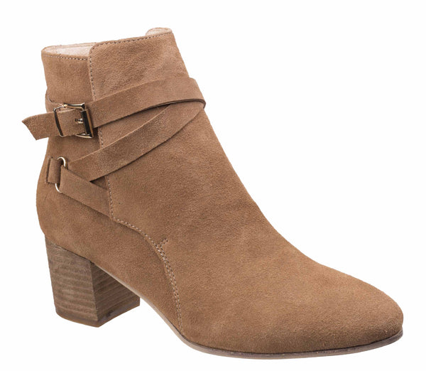Divaz Arianna Ankle Boot With Heels Sand