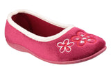 Mirak Arles Womens Flower Detail Pump Slipper Burgundy