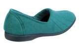 GBS Audrey Womens Velour Full Slipper