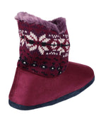 Mirak Bergen Womens Warm Lined Bootee Slipper