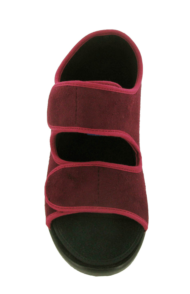 343690e2fc27 GBS Brompton Womens Extra Wide Fit Open Toe Touch Fastening Slipper