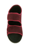 GBS Brompton Mens Extra Wide Fit Open Toe Touch Fastening Slipper
