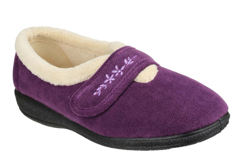 Fleet & Foster Capa Womens Touch Fastening Warm Lined Slipper