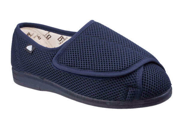 Mirak Celia Ruiz 300 Mens Extra Wide Touch Fastening Canvas Shoe Navy