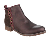 Divaz Demi Womens Pull On Casual Boot Burgundy