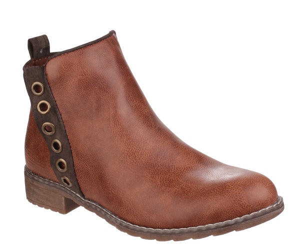 Divaz Demi Womens Pull On Casual Boot Tan
