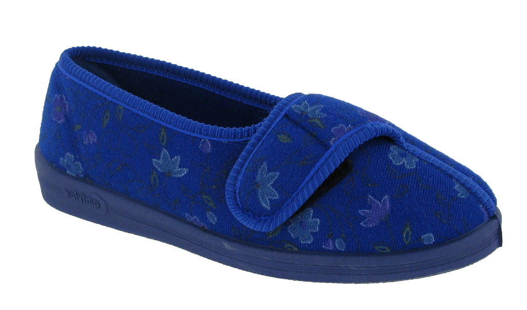 9388528edac Comfylux Diana Womens Wide Fit Touch Fastening Full Slipper