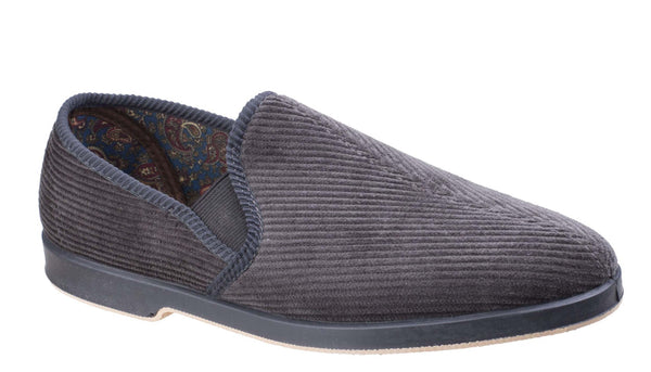 GBS Exeter Mens Full Slipper Grey