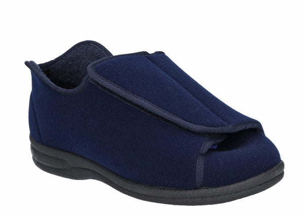Mirak Fiife Womens Touch Fastening Full Slipper Navy