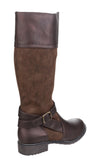 Divaz Garbo Womens Two-Tone Long Leg Dress Boot