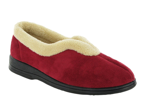 Mirak Jenny Womens Warm Lined Full Slipper Red