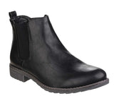Divaz Kelly Womens Pull On Chelsea Boot Black