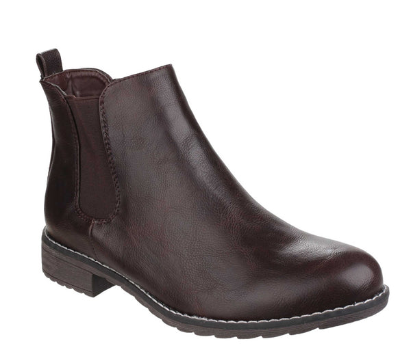 Divaz Kelly Womens Pull On Chelsea Boot Brown