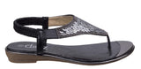 Divaz Kirsty Womens Glitzy Toe Post Slip On Summer Sandal