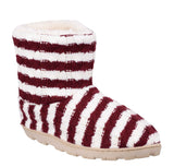 Divaz Latvia Womens Warm Lined Bootee Slipper Red/White