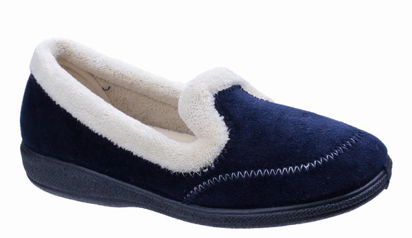 Fleet & Foster Maier Womens Warm Lined Slipper Navy