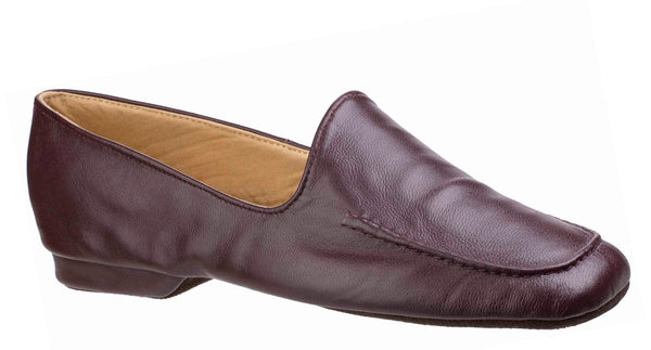 Cincasa Manuel Mens Full Leather Slipper Wine