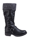 Divaz Monroe Womens Knitted Cuff Detail 3/4 Length Casual Boot