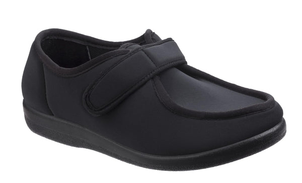 GBS Northwick Womens Touch Fastening Slipper Black