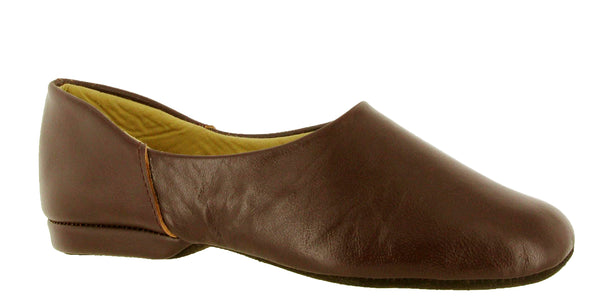 Cincasa Pedro Mens Leather Full Slipper Wine