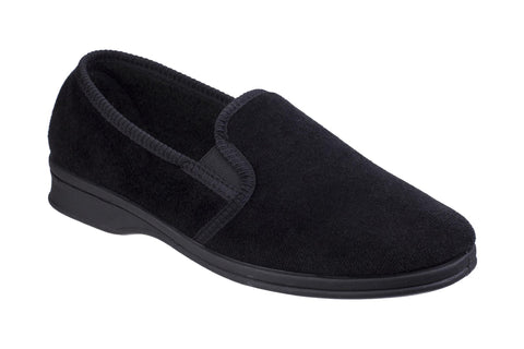 Mirak Shepton Mens Full Slipper Black