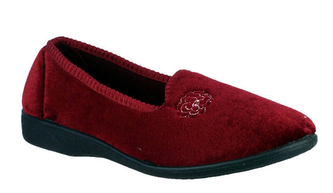 Mirak Simone Womens Full Slipper Burgundy