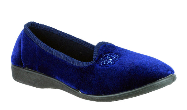 Mirak Simone Womens Full Slipper Navy