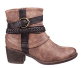 Divaz Vado Womens Strap And Buckle Detail Ankle Boot