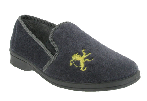 Mirak Warminster Mens Full Slipper Grey