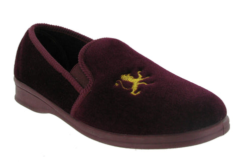Mirak Warminster Mens Full Slipper Wine