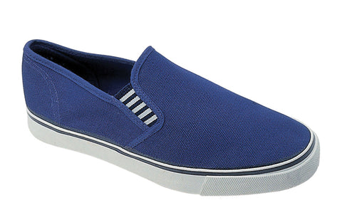Mirak Yachtmaster Mens Slip On Canvas Shoe Blue