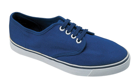Mirak Yachtmaster Mens Lace Up Canvas Shoe Blue