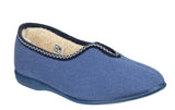 GBS Helsinki Womens Warm Lined Velour Slipper