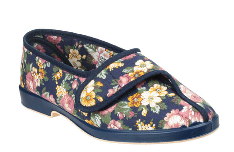Mirak Wendy Womens Touch Fastening Canvas Full Slipper