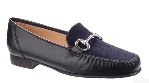 HB Hadden 547 Womens Slip On Moccasin Shoe Navy L/S