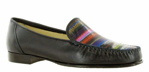 HB Hannah Womens Slip On Moccasin Shoe Navy Multi