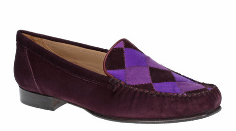 HB Hattie 596 Womens Patchwork Detail Suede Leather Moccasin Shoe